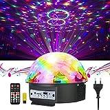 GUSODOR Discokugel LED Lichteffekte Bluetooth MP3 Musik Player RGB Sprachaktiviertes Kristall Magic...