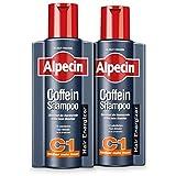 XXL Alpecin Coffein-Shampoo C1, 2 x 375ml - Beugt erblich bedingtem Haarausfall vor, für fühlbar...