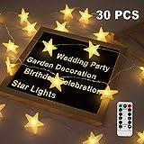Led Lichterkette Sterne, Nasharia Lichterketten 8 Modi 30er Sterne 5M Lnge LED Lichterkette mit USB...