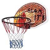 DREAMADE Basketballkorb für Outdoor & Indoor, Hängendes Basketballboard Basketballbrett mit Netz...