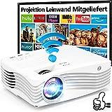 8500L WiFi Beamer Full HD 1080P Native [Mit 120″ Screen], Full HD 5G Wireless Beamer Unterstützt...