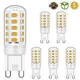 G9 LED Glühbirne 5W Entspricht 28W 33W 40W Halogenbirnen, G9 LED leuchtmittel Warmweiß 2700K, G9...