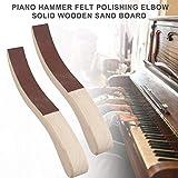 tackjoke Piano Hammer Filzpolierbogen Vollholz-Sandbrett EIN Paar Praktisches Und Langlebiges...