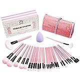Make up Pinsel set 32+1 - teiliges Schmink Pinselset mit Etui Kosmetik Lidschatten Gesichtspinsel...