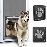 Ownpets Haustiersieb Tür, automatische abschließbare schwarze Tür mit Magnetklappe für kleine /...