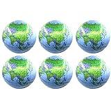 LIOOBO 6 Stücke Wasserbälle Aufblasbare Strand Spielzeug Weltkugel Pool Ball Spielzeug Wasser...