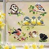 Wandtattoo Loft Fensterbild Frühling Ostern Vogel Set frühlingshafte Fensterdeko –...