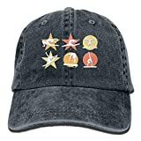 Baseball Cap für Männer & Frauen, Gymnastik Mens Cotton Cotton Adjustable Denim Cap Hat