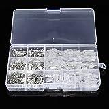 Masun 270 Stück Steckerbuchsen Flachdraht Crimp Schnellverbinder Kabelschuhe 2,8 mm 4,8 mm 6,3 mm