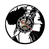 Eld 30cm Dj Kopfhörer Uhren Musik hören Wand Wohnkultur Hängende Uhr Modernes Design Rock N Roll...