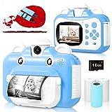 BITIWEND Kinderkamera, WiFi Print Kamera für Kinder, 1080P HD Videokamera mit 2,4 Zoll Screen,...