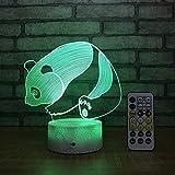 Nettes Panda Ub Nachtlicht Kreatives buntes Acrylhandwerk führte Nachtlicht Kinderzimmerdekoration...