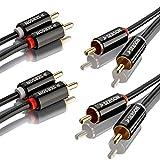 SEBSON 2X Cinch Audio Kabel 0,5m, 2 zu 2 Cinch Stecker RCA, AUX Audio Kabel für Stereoanlagen,...