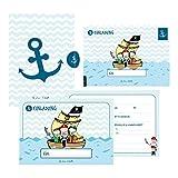 12 Einladungskarten Geburtstag Junge (Piraten). Handgemachte Geburtstag Einladungskarten zum...