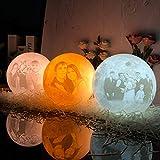 Personalisierte 3D-gedruckte einzigartige Mondlampengeschenke 18CM '3 Farben Nachtlicht...