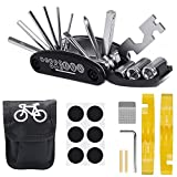 GESTAND Fahrrad-Multitool,Fahrrad Reparatur Set 16-in-1 Multifunktions Werkzeug mit Satteltasche...