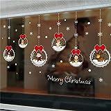 O-WMING Wandtattoo Weihnachten Glaskugel Ornament Wandbild Kunst Abnehmbare Home Fenster Aufkleber...