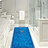 Starfish Shell Swimming Pool Bodenaufkleber Sommer Aquarium Toilettentür Badezimmer Küche Boden...