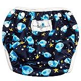 Babyino wiederverwendbare Schwimm-Windel | Bade-Hose für Babys und Kleinkinder (Blau Fisch) 6 bis...