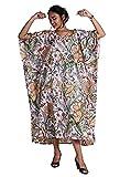 Handicraft Bazarr Baumwoll-Kaftan für Damen, Nachtkleidung, halbe Ärmel, Kaftan, Bademantel,...