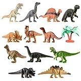 Toyvian Mini Dinosaurier Spielzeug Set Realistische Spielzeug Dinosaurier Figuren für Kinder und...