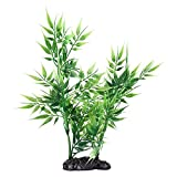 Andifany Künstlicher Rasen für Aquarium, Bambus-Blätter, Grün
