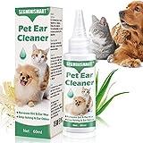 SEGMINISMART Ohrenreiniger für Hunde,Beruhigung und natürliche Pflege bei,Schmutz und Ablagerungen...