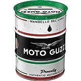 Nostalgic-Art Retro Ölfass-Spardose Moto Guzzi Motorcycle Oil – Geschenk-Idee für Motorrad-Fans,...