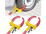 Lescars Autokralle: 2er-Set Universal-Radkrallen zum Diebstahlschutz für Reifen bis 265 mm...