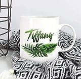 N\A Brautjungfernbecher Personalisierte Kaffeetasse Benutzerdefinierte Namensbecher Tropical Leaf...
