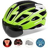 Fahrradhelm,CE-Zertifikat,Fahrradhelm mit Abnehmbarer Schutzbrille Visor Shield für Männer Frauen...