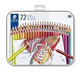 Staedtler Buntstifte, traditionelle Sechskantform, entsprechend Spielzeugrichtlinie EN71, Metalletui...