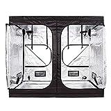 Wzz Growzelt Nicht Lichtdurchlässig, Sichtfenster Growbox Zuchtschrank Grow Tent Gewächszelt Zelt...