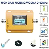 MY-COSE 3G Handy-Repeater, 2100 MHz-Signal-Verstärker, Mit HD-LCD-Display Enthält Alle...