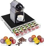 GPCT ausziehbarer Kaffeepadstnder aus Metall mit Schubladenhalter Ideal fr 36 K Tassen, 6 Reihen...