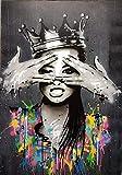 Leinwanddrucke Gemälde Abbildung Porträt Bild Banksy Wandkunst Abstrakte Frauen Graffiti Poster...
