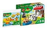 Legoo Lego Duplo Set: 10870 - Tiere auf dem Bauernhof + 30327 Meine erste Ente (Polybag) 2-5 Jahre