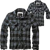 Brandit Check Shirt Herren Baumwoll Hemd 4XL Black-grey