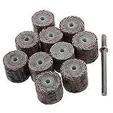 Moligh doll Moligh doll(R)10 Stueck 12 x 14 x 3 mm 120-Schleifbuerste Schleifwerkzeug Flap-Rad