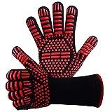 Grillhandschuhe,Ofenhandschuhe BBQ Kochenhandschuhe Backhandschuhe Hitzefeste Handschuhe...