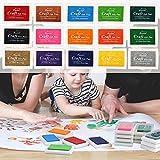 Pomisty Stempelkissen Fingerabdruck Set 15 Farben, Finger Stempelkissen Bunt Stamp Pad für Papier...