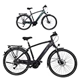 FISCHER Herren - Trekking E-Bike VIATOR 4.0i, Elektrofahrrad, schwarz matt, 28 Zoll, RH 50 cm,...
