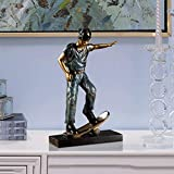 CKH Kreative Retro Sport Figur Skulptur Skulptur Kunstwerk Wohnzimmer Zuhause Weiche Ornamente Kugel