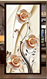 MYLOOO Tür Fototapete 3D Blumenrebe Dekorfolie Selbstklebend Tapete, Tür-Aufkleber, Türbild,...