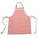 Pink Papaya Schürze, Kochschürze für Frauen und Männer aus 100% Baumwollleinen, Küchenschürze...