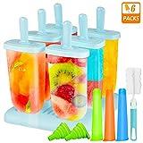 Gifort Eisform BPA Frei, 6-er Set Eisformen aus Hochwertiges PP-Material + 3-er Set Eislutscher...