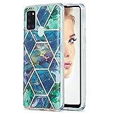 Marmor Schutzhülle für Samsung Galaxy A21S/A217F Marmor Muster IMD Weich Flexibel Silikon Hülle...