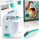 freegreen® Premium Spiralschneider mit Auffangbehälter [inkl. Das Spiralschneider-Kochbuch] I EIN...
