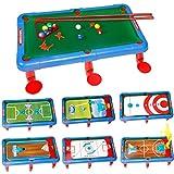 Multifunktionstisch Spieltisch Seven-in-one Tischbillardtisch American Schwarz 8 Billardtisch...