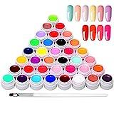 Anself 36 Farben UV Farbgel, UV Nägel Set Gelfarben für nägel, Nail Art Farbgel Set, Gel Nägel...
